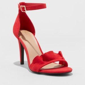 Coming! Women's sexy ruffle heel sandals